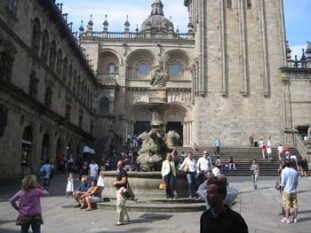 020 The southern doorway of the Cathedral at Santiago de Compostela, This is the traditional entrance for Perigrinos finishing The Camino Portugues